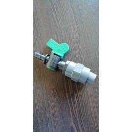 Distribuitor aer cu robinet pentru furtun de 9 mm