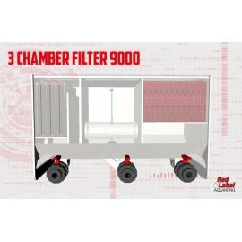 Filtru multicameral cu moving bed SMALL 9000 pt un iaz de 9000 litri